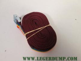 Spanband rood/oranje/geel  2,5 cm breed