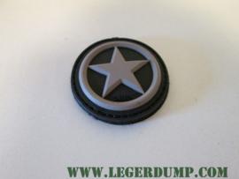 Embleem 3D USA Star van PVC met klittenband