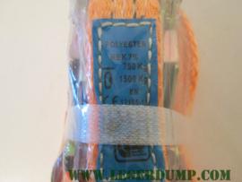 Spanband klein model kleur oranje  2,5 cm breed
