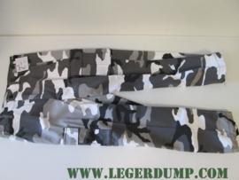 Kinder camouflage broek Urban wit