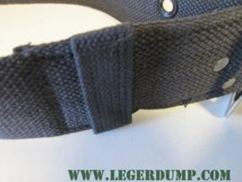 Zwarte riem met grote gesp 110 cm