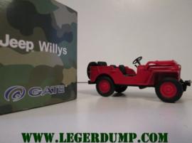 Jeep Willys, kleur rood.