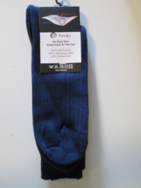 KM Sock no stop new donker blauw