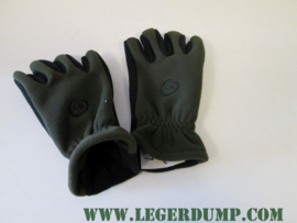 Outdoor fleece gloves polsmof groen zwart