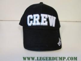 Baseball cap 100% katoen zwart Crew