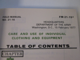 Handboek FM 21-15 Care and Use of Clothing