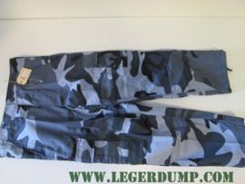 Kinder camouflagebroek blauw