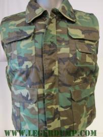 Bodywarmer camouflage met binnenzak