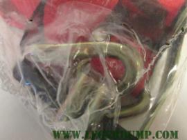 Spanband rood zwart 4,5 cm breed
