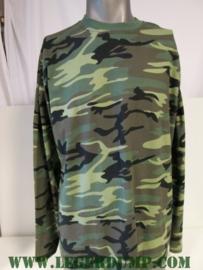 T-shirt met lange mouw camouflage