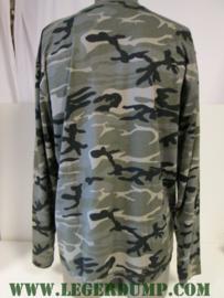 T-shirt camouflage met lange mouw