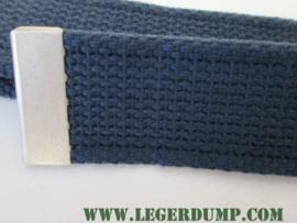Tropenkoppel donkerblauw met mat chrome gesp