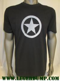 T-shirt zwart met grijze ster