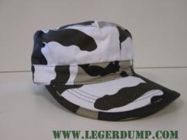 Legerpet Combat cap Urban wit/groen/bruin/zwart