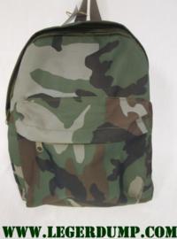 Kinderrugzak camouflage Woodland