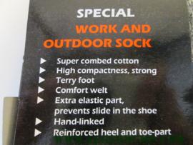 Outdoor sock kleur zwart