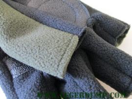 Outdoor fleece gloves polsmof groen zwart