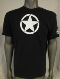 T-shirt zwart met kleine witte ster