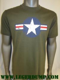T-shirt groen Army WW-II Fostex