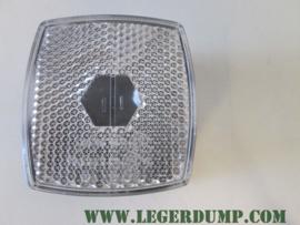 Lamp met wit glas en E3 keurmerk