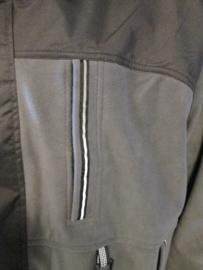 Technisch fleecejack grijs / zwart