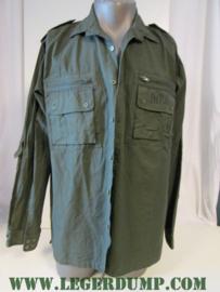 Overhemd groen Ripstop 100% katoen