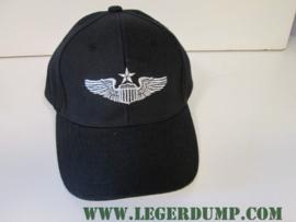 Baseball cap senior Pilot zwart