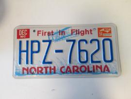 Nummer plaat North carolina