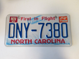 Nummerplaat  North Carolina
