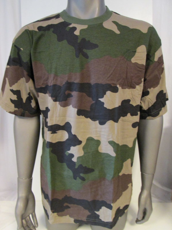 T shirt recon french camo