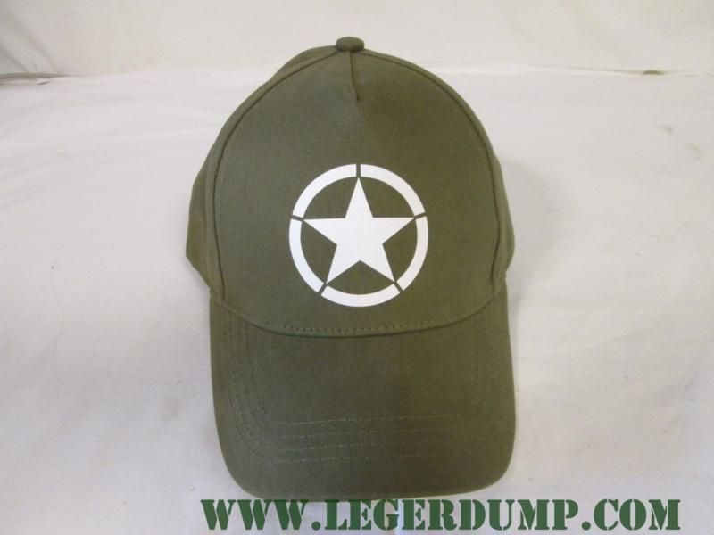 Baseball cap groen met witte ster