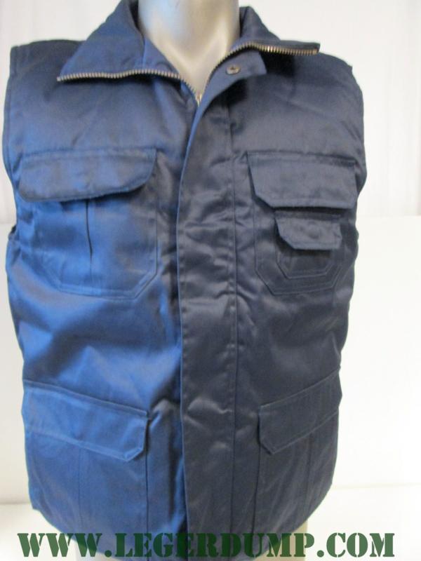 Bodywarmer blauw met binnenzak