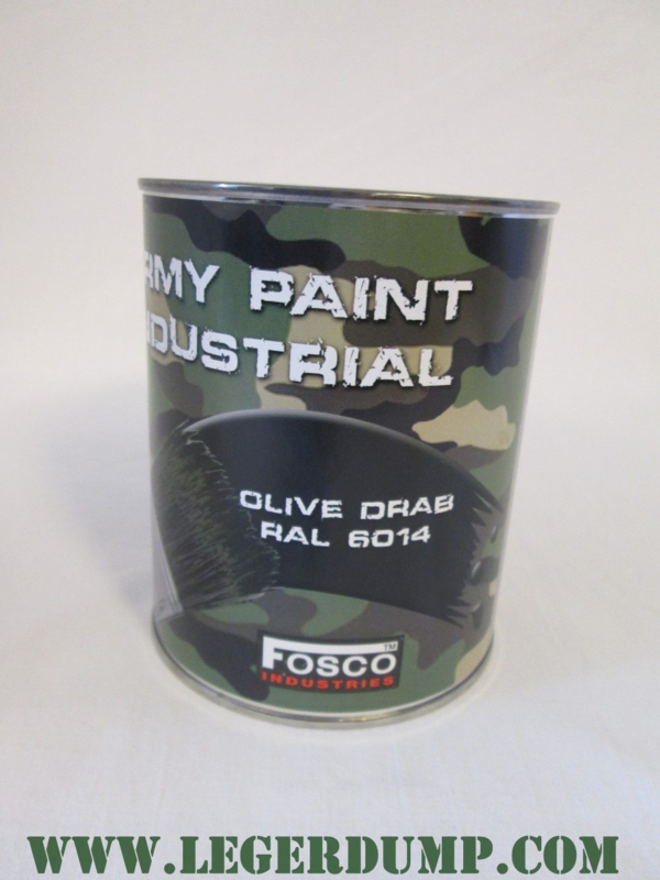 Blik legerverf RAL6014 Olive Drab