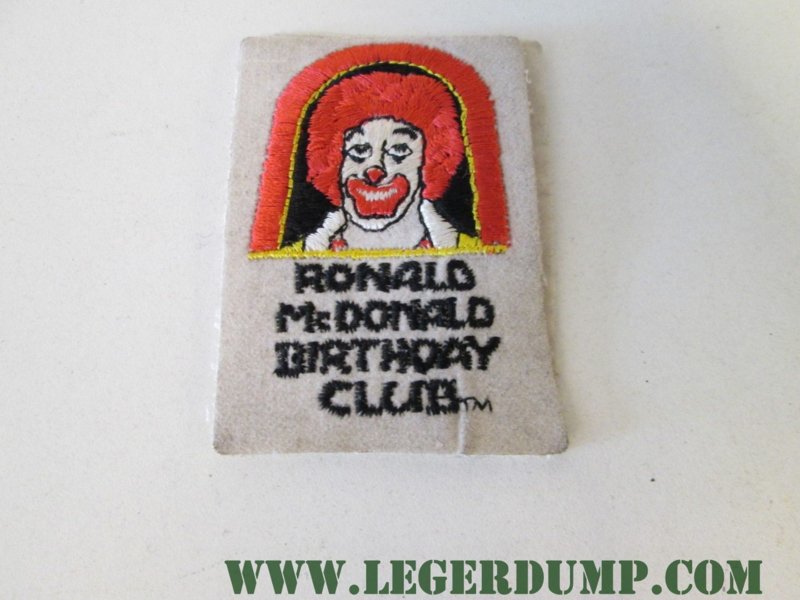 Opnaai embleem Ronald McDonald Birthday Club