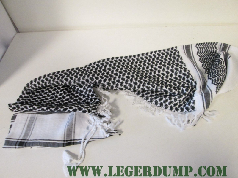 Sjaal / omslagdoek zwart / wit