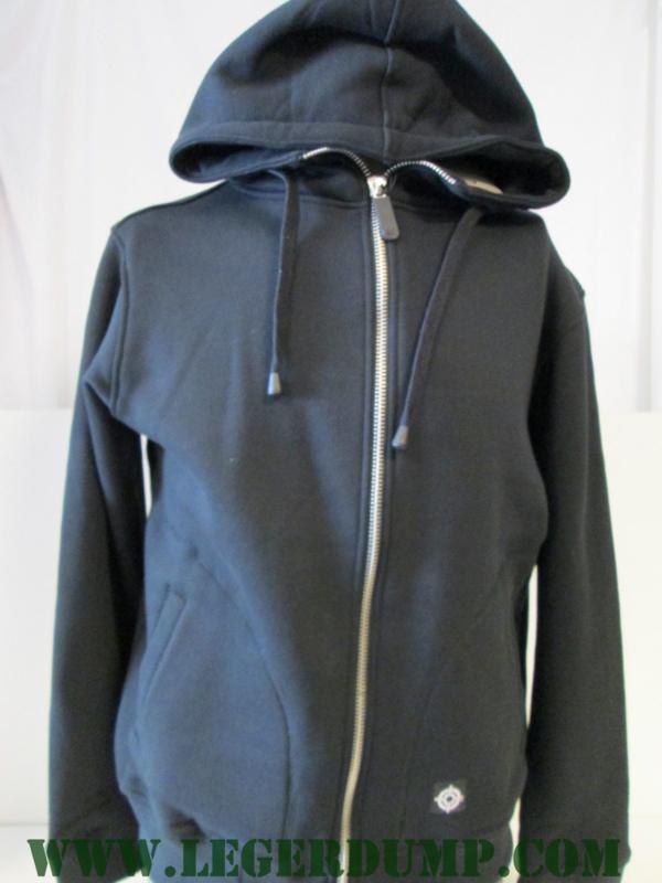 Hoodie met rits kleur zwart