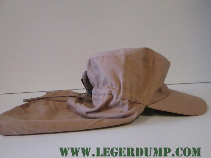 Fieldcap met nekbescherming cremekleur