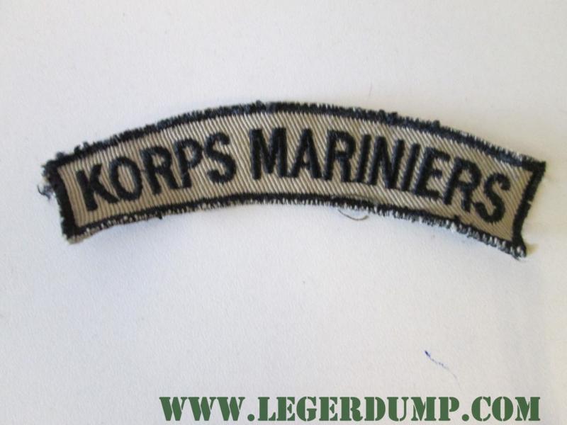 Opnaai embleem Korps Mariniers