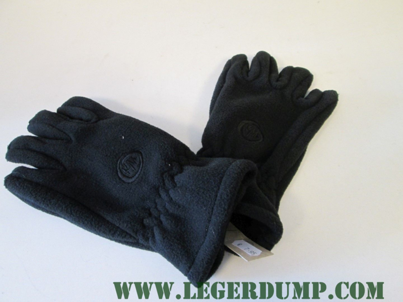Outdoor fleece gloves polsmof  zwart