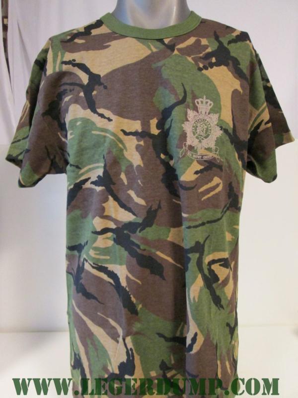 T-shirt camouflage met Mariniers opdruk