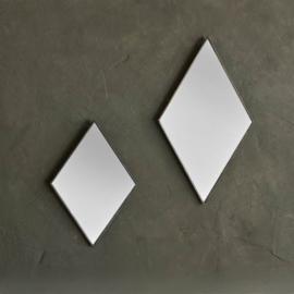 Spiegel ruit antiek zwart- klein/groot