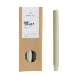 Milieuvriendelijke kaarsen- licht groen 10st.