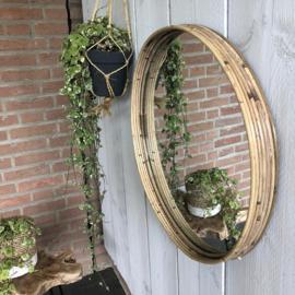 Grote ronde spiegel- nature Ø50