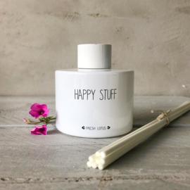 Geurstokjes- happy stuff