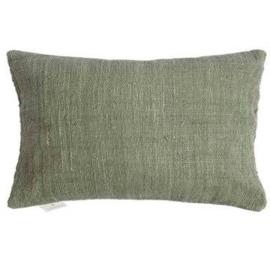 Handgemaakt rechthoekige kussenhoes- bamboe groen 40x60