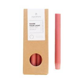 Milieuvriendelijke kaarsen- roze 10st.