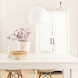 Witte hanglamp halve bol