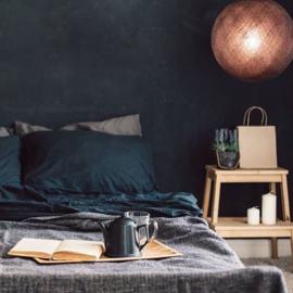 Zwarte ronde hanglamp