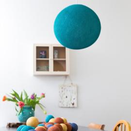 Zeeblauwe ronde hanglamp