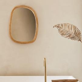 Natuurlijke bamboe spiegel